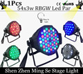 54X3W RGBW LED Par Light  R12 G18 B18 W6 LED PAR DMX512 controller led lights, disco lights DJ equipment
