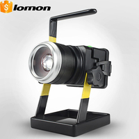 Rechargeable LED Floodlight CREE T6 LED Spotlight Garden Ground Light Zoomable Mobile Camping Emergency Work Light Car Charger