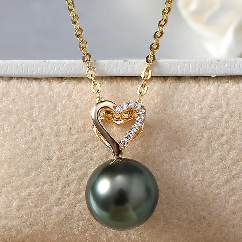 YS 14 k Ciondolo In Oro di Acqua Salata Collana Del Pendente Della Perla Per Le Donne-in Ciondoli da Gioielli e accessori su  Gruppo 2