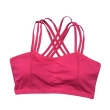 Women Sports Bra Workout Yoga Fitness Tank Top Stretch Seamless Racerback Padded