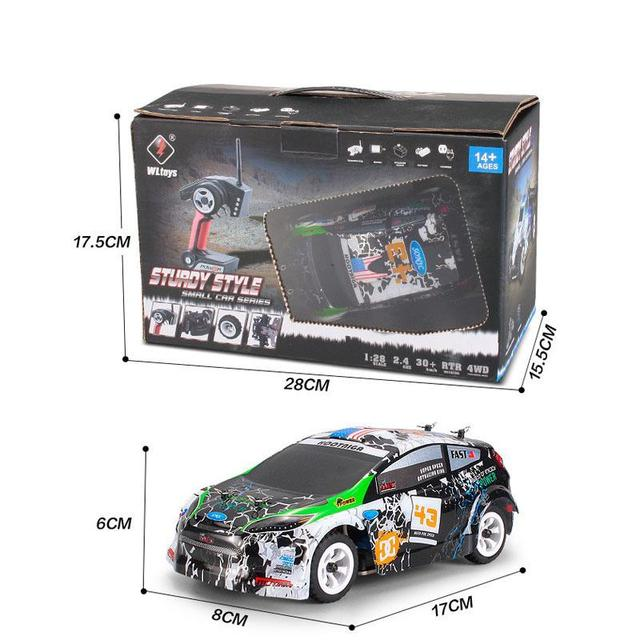 Wltoys K989 1/28 2.4G 4WD Brushed RC Remote Control Rally Car RTR with Transmitter  RC Drift Car Alloy Remote Control Car 4
