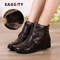Genuine leather women winter snow boots women's slip-resistant wedges ladies ankle short boots
