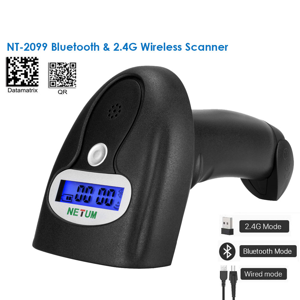 NT 1228BL Bluetooth QR 2D pdf417 Barcode Scanner AND NT 1228BC Wireless Bluetooth CCD Barcode Reader