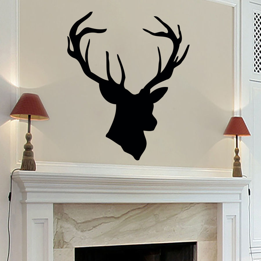 environmental deer antlers picture vinyl wallpaper living room bedroom mural art home decoration. Black Bedroom Furniture Sets. Home Design Ideas