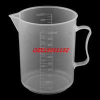 1PCS Laboratory Plastic Water Liquid Graduated Measuring Cup Clear White 1000ml