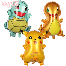 XXYYZZ Cartoon Pikachu Pokemon Foil Balloons Children Inflatable Toys Helium Balloons Birthday Party decorations Kids Party стоимость
