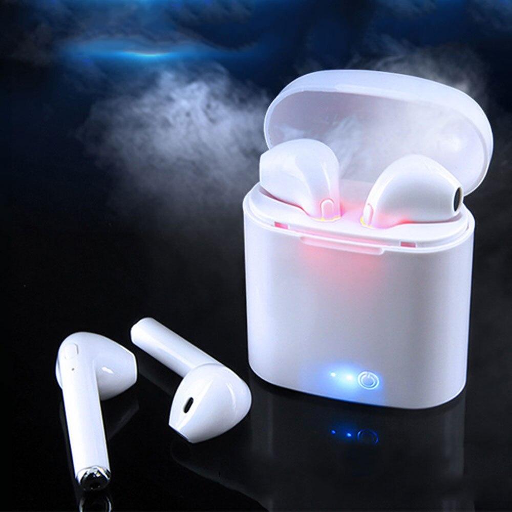 Draadloze Headset Bluetooth Oortjes i7S Tws Oordopjes Twins Oortelefoon Met Opladen doos Oortelefoon Voor iPhone Voor Samsung Smart