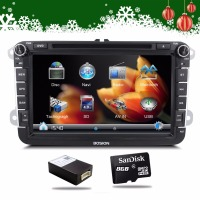 Wholesale 2 Din 8 Inch Car DVD Stereo Player For VW Volkswagen Passat POLO GOLF Skoda