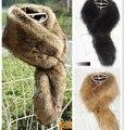 Осень и зима женщин искусственного лисий мех воротник женщины в зима енот мех воротник-шарф утолщаются тёплый лисий мех шарф 9 цветов