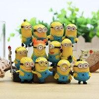 12pcs Lot Minion Miniature Figurines Toys Cute Lovely Model Kids Toys 3cm PVC Anime Children