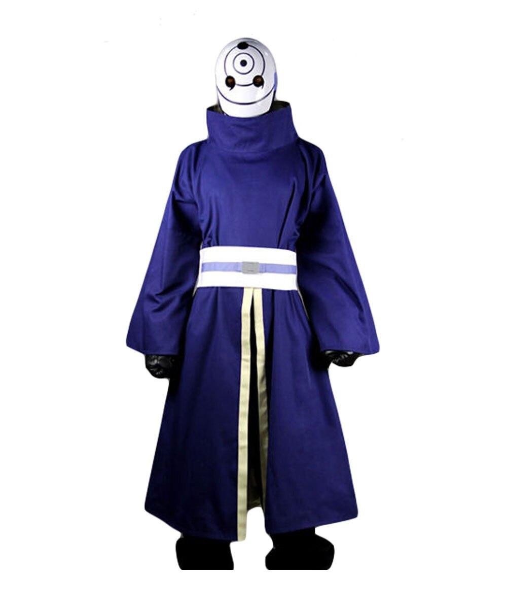 NARUTO Akatsuki Ninja Tobi Obito Madara Uchiha Cosplay Costume Helmet( Mask Optional )