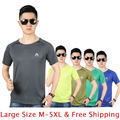 Afs Jeep Brand Casual Quick Dry T-shirt Men Slim Body Building Sports Compression Breathable Tee Shirts Size 3XL 4XL 5XL TS163