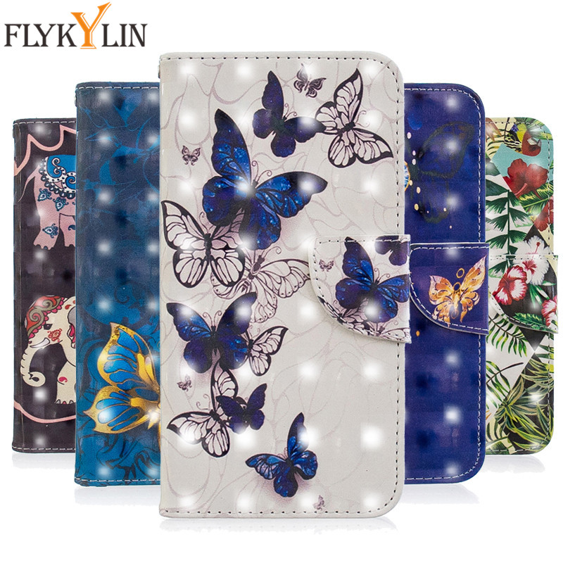 3d Painted Wallet Case For Xiaomi Redmi 6 6a Flip Leather Case For Xiaomi Redmi 6 Pro Note 6 Pro Cover Coque Book Stand Capa Can Be Repeatedly Remolded.