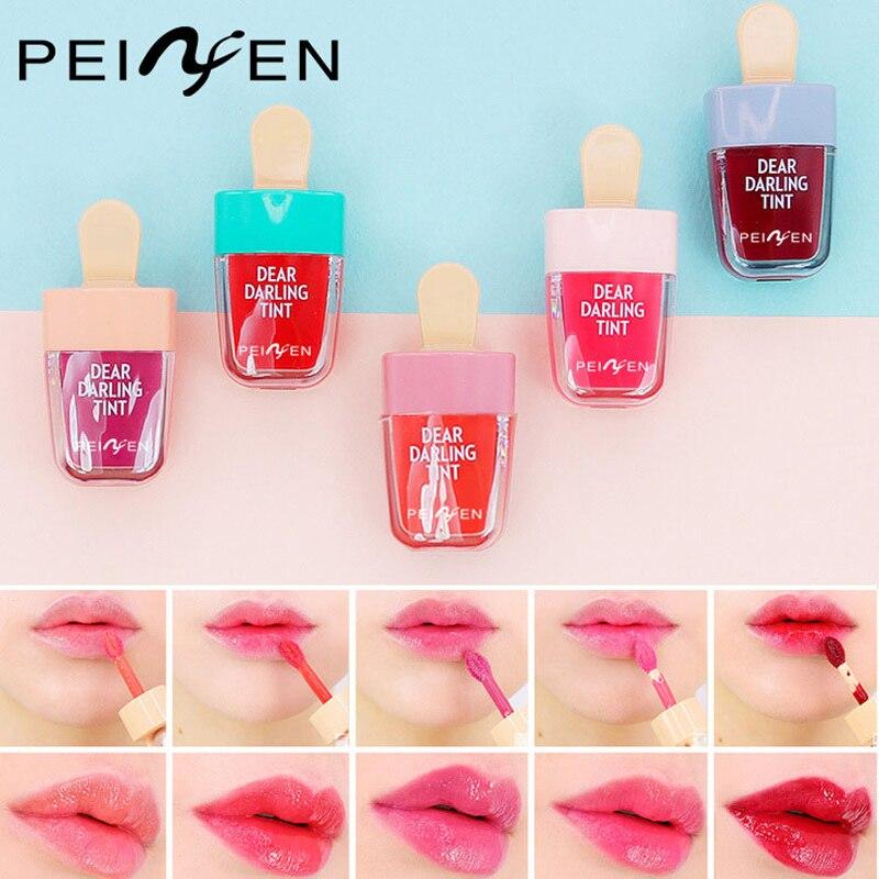 Cute Lip Tint Makeup Lipgloss Liquid Matte Lipstick Long Lasting Waterproof Moisturizer Ice Cream Lip Gloss