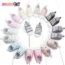 Summer Baby Shoes Infant  First Walkers Soft Sole Shoes Girl Boys Footwear 6 S Anti-slip Soft Sole Canvas Baby Shoes 0-18Month