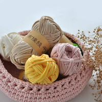 1000g 10ball Lot 30M Fancy Yarn For Knitting Thick Thread Crochet Candy Colored Cloth Yarns Ribbon