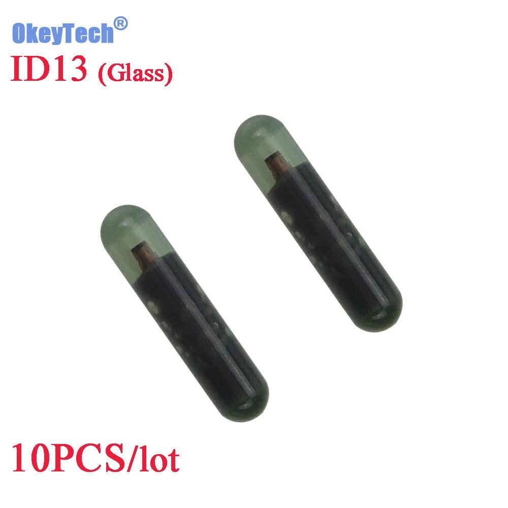 Okeytech 10 шт./лот Ключи чипы ID13 TP03 пустой авто транспондер чип ID 13 чип Стекло ID13 транспондера чип для honda ключ
