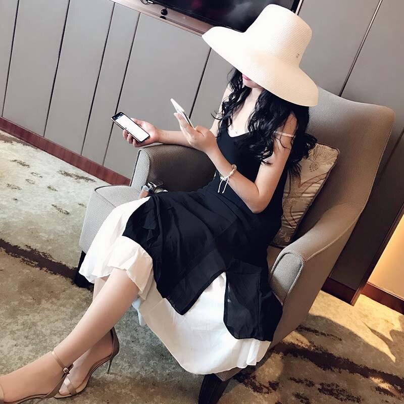 Image 3 - 13 см с широкими полями, пляжная шляпа от солнца, большая флоппи женская летняя шляпа, красная, черная, белая, УФ Защита от солнца, соломенная складная шляпа для путешествий, Шляпа Дерби-in Женские шляпы солнца from Аксессуары для одежды on AliExpress - 11.11_Double 11_Singles' Day