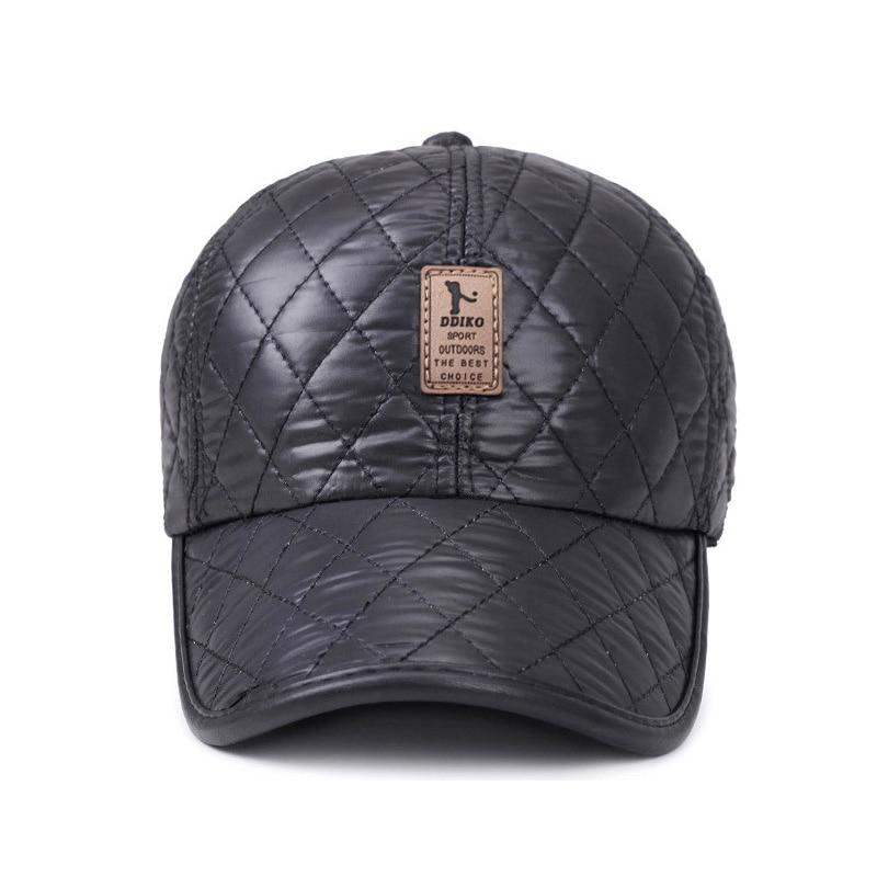 [AETRENDS] Vinter Mænd Cap Baseball Hat Plaid Stilfuldt med Øre - Beklædningstilbehør - Foto 3