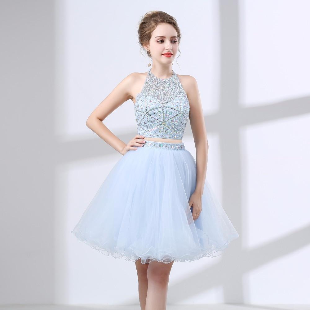 Plus Size Halter Top Prom Dresses 2018