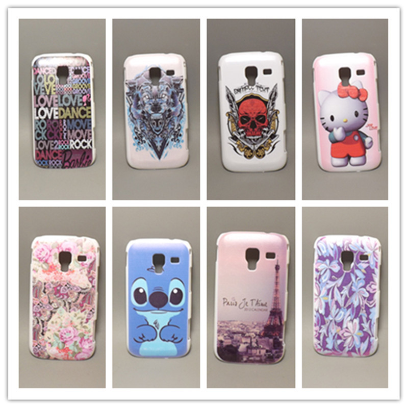 Fashion design Rubber Flower Painting Hard Plastic cell Phone Case Samsung Galaxy Ace 2 i8160 8160 - case store