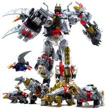 ใหม่ขนาดใหญ่ 33 ซม.อะนิเมะ Devastator Transformation หุ่นยนต์ของเล่นเด็ก Action Figures เครื่องบินรถจักรยานยนต์ไดโนเสาร์เด็กของเล่น