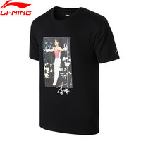 Li Ning Men T Shirt NYFW VINTAGE Mr. Li OG PRINT TEE Regular Fit 100% Cotton LiNing T shirts AHSN739 MTS2757