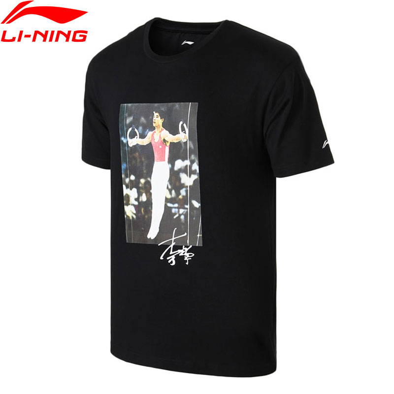 T-Shirt homme li-ning NYFW VINTAGE m. Li OG imprimé TEE-shirt coupe régulière 100% coton doublure T-shirts AHSN739 MTS2757