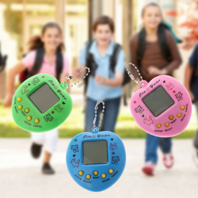 OOTDTY Electronic Pet Game Machine Tamagochi Learning Education Toys With Chain