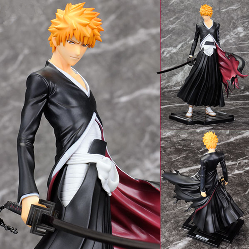 Hot Anime PVC Toy Figure Model Cartoon Cool Bleach Kurosaki Ichigo Action Figure Model Birthday Gifts 4pcs set bleach kurosaki ichigo kuchiki byakuya pvc action figure model toy doll bl014