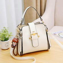 цена на 2019 Woman Ladies Hand O Bag Concise Inclined Shoulder Portable Handbag Crossbody Bags For Women Messenger Leather Handbags Tas