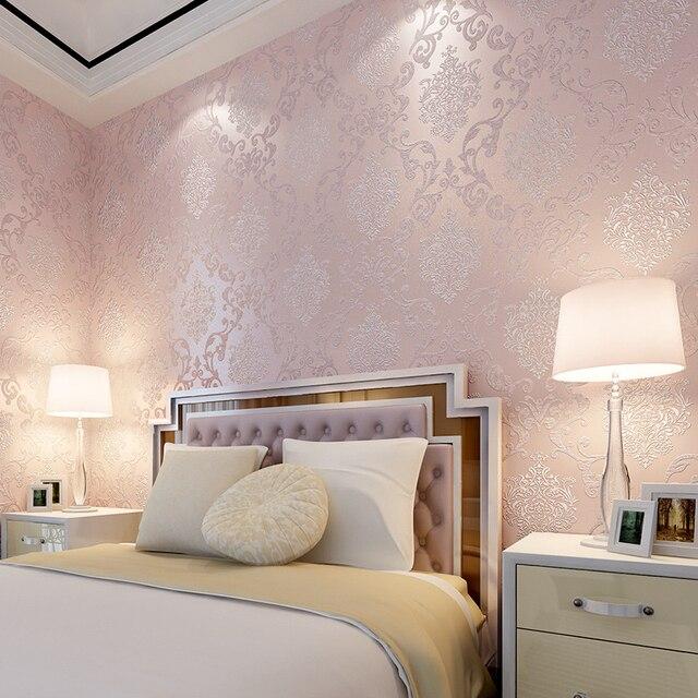 Beibehang romantique chambre de mariage chambre pleine papel de ...