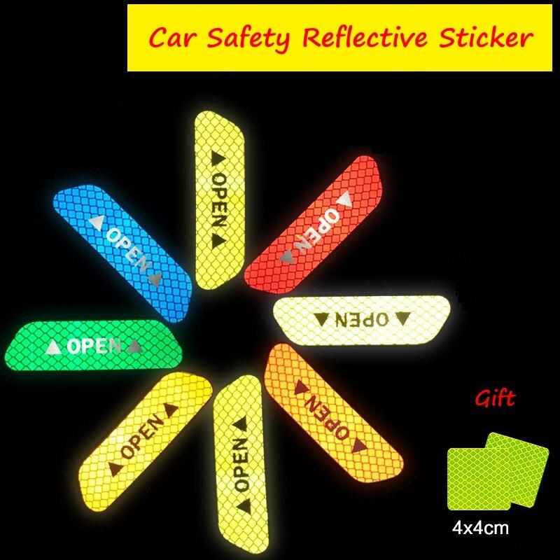 Стандарт США отражающие вождения Стикеры автомобиль грузовик дверь открытой Стикеры Детская безопасность Предупреждение знаки видимости ...
