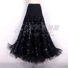 New style Ballroom dance costumes sexy spandex sequins embroidery ballroom dance skirt for women ballroom dance skirts S-4XL