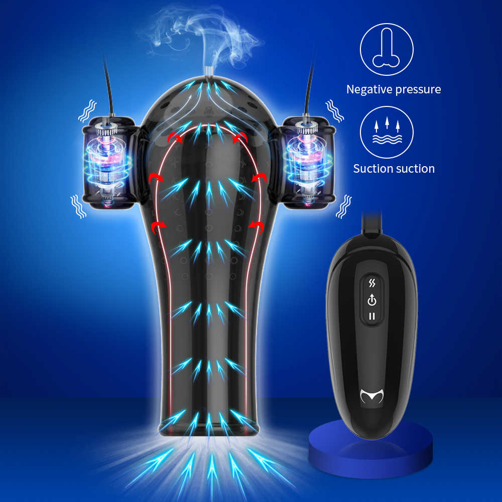 Male Penis Extender Glans Vibrator for Men Masturbator Penis Vacuum Pump Pressure Exercise Delay Lasting Trainer Sex Product