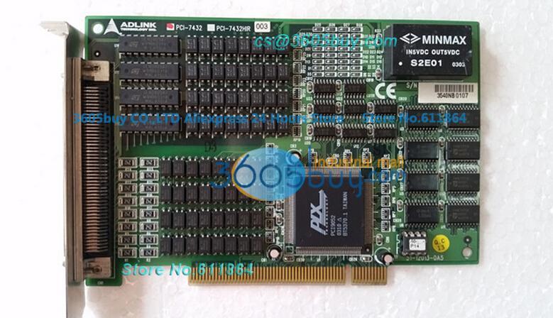 PCI-7432 I /O Card 64 channel isolated high-speed digital IO card PCI-7432HIR 100% Tested Good Quality