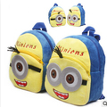 Free shipping cute cartoon small yellow People Children bag, small backpack baby early education
