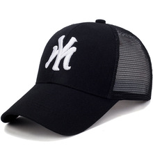 купить MY Letter Fashion Letter Embroidery Dad Hat Baseball Caps Cap Summer Breathable Mesh Sun Hats Unisex Men Women Snapback Mesh Hat дешево