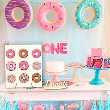 1pc Wedding Decoration Donut Wall Holds Candy Sweet Cart Ferris Wheel With Stand Wooden DIY