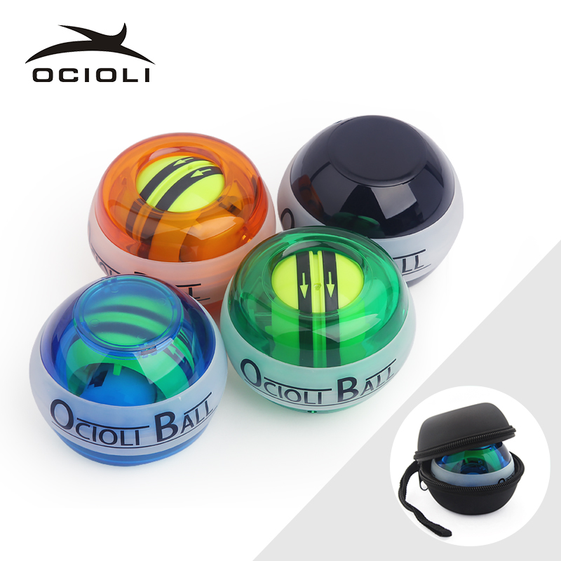 Strength Gyroscope Ball Double Gyroscope Wrist Arm Muscle Power Force Exercise Strengthen Ball Trainer Hand Grips Fitness