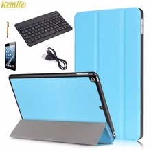 Kemile Ultra Slim Smart Cover For New iPad 2017 9.7 inch Case Stand with Auto Sleep/Wake Function with 9 inch Black Keyboard