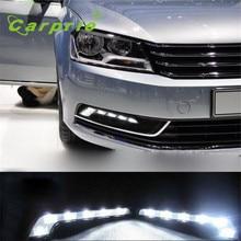 AUTO 12V 2X 6LED Daytime Driving Running Light DRL Car Fog Lamp car lights auto car