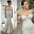 Sexy Mermaid Wedding Dresses Robe De Mariage Sweetheart Beaded Appliques Tulle Bridal Gowns Vestido De Novia Corto