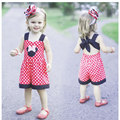 Baby Girl Minnie Clothes Set Girls Summer Sleeveless Polka Dot Clothing Sets Children Cartoon Mouse Outfits vetement fille CF136