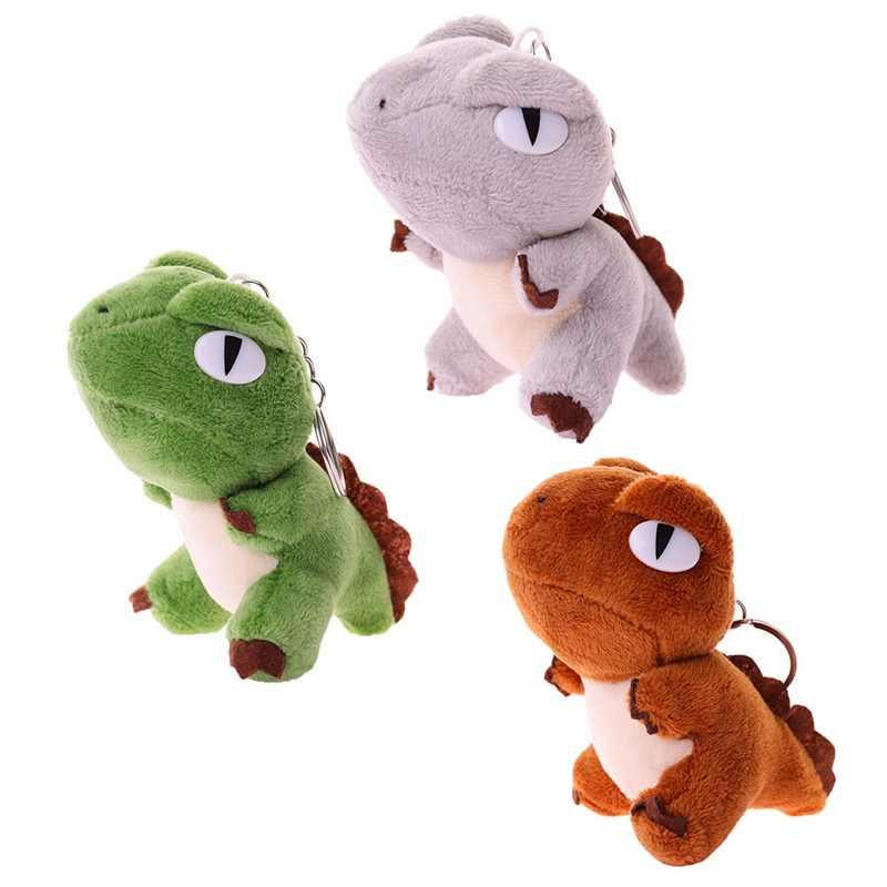 3 cores Bonito Mini Brinquedo Dragão Pano 10 CM Altura Chaveiro Brinquedo de Pelúcia Brinquedo de Pano Boneca