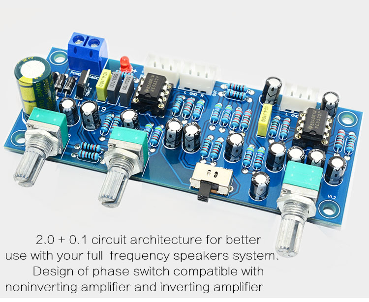 US $8 5  CIRMECH 2 1 channel subwoofer preamp board Low Pass Filter Pre AMP  Amplifier Board NE5532 low pass filter bass preamplifier-in Amplifier from
