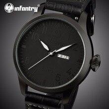 Мужские часы от ведущего бренда, роскошные часы в стиле милитари из черной кожи, мужские часы-авиатор, часы для мужчин, мужские часы