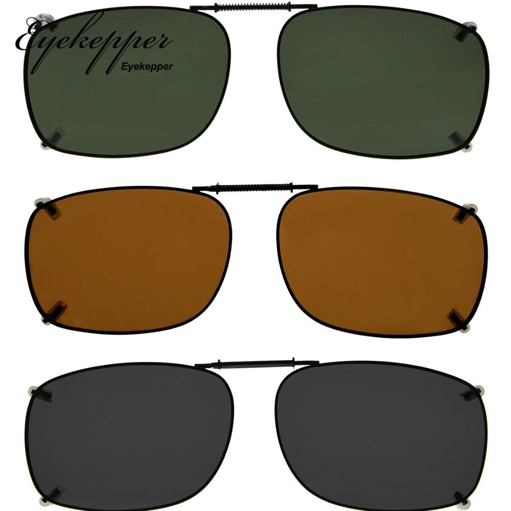 4e77e59ff C64 mezcla Eyekepper gris/marrón/G15 Lens 3-pack Clip-Clip en gafas de sol  polarizadas 51x37 x MM