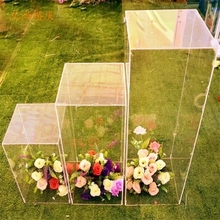 Свадебное Хрустальное орнаментальное украшение в середине потолка цветок акриловая подставка прохода дорога водит квадратная колонна для украшения свадьбы
