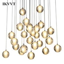 IKVVT E27 Modern Hanging Lamp Crystal Minimalist Design Pendant Lights Decoration Living Room Dining Bedroom Bar Decor